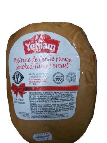 BLOCK CHEST OF SMOKED TURKEY X3 YEHIAM POIDS/PRIX