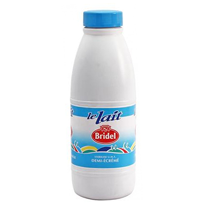 SKIM MILK 1/2 BRIDEL BOTTLE