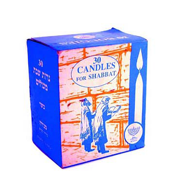 CHABBAT CANDLES BY 30
