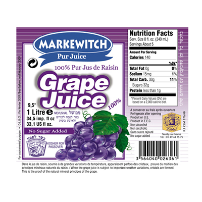 RED GRAPE JUICE MARKEWITCH