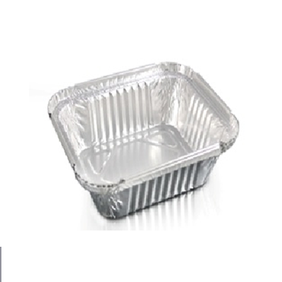 ALUMINIUM TRAYS 450 ML + COVER X10